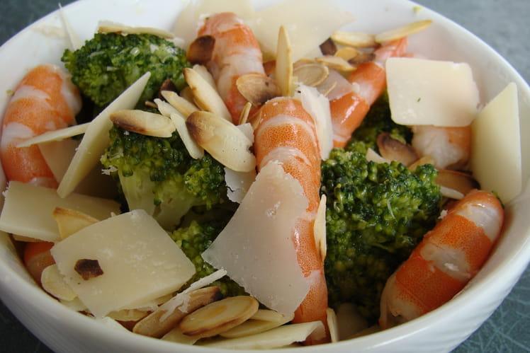 Salade de brocolis et crevettes