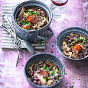 ragoût de haricots rouges (feijão tropeiro mineiro)