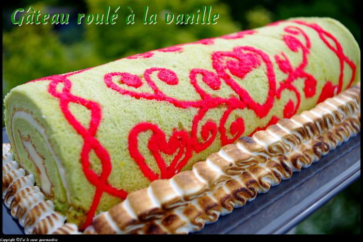 Gâteau roulé à la vanille