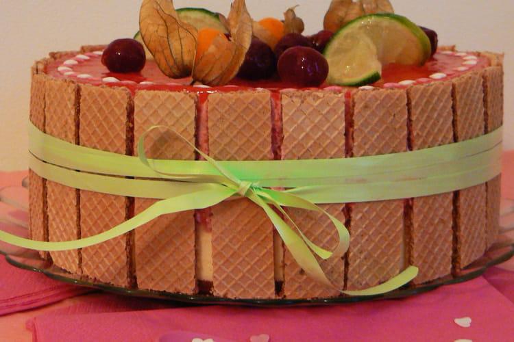 Bavarois chocolat blanc et cerises