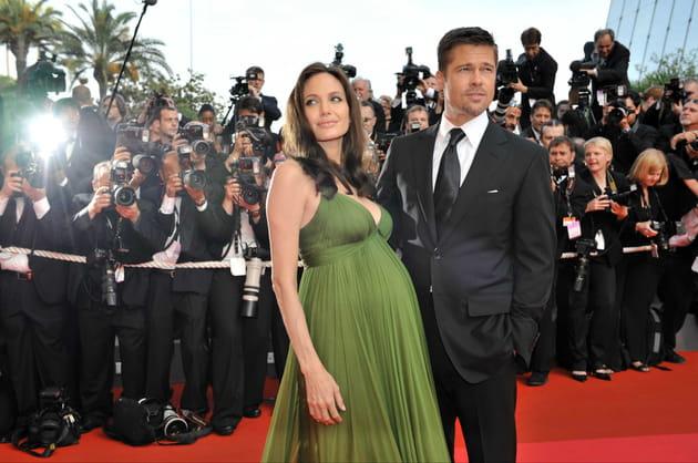 Enceinte de Vivienne et Knox, au festival de Cannes