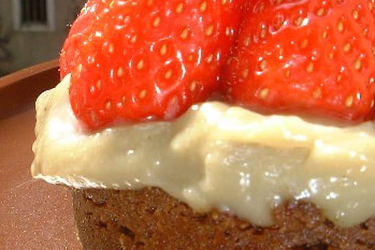 Tartelette aux fraises et speculoos