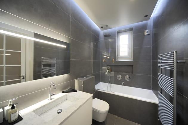 Après : la salle de bains agrandie