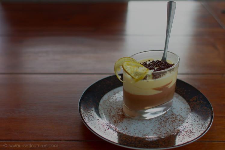 Verrine de mousse au chocolat et citron