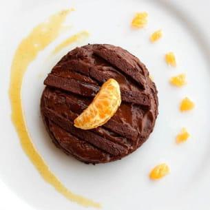 mousseux au chocolat et son coulis de clémentines