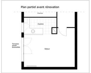 le plan d'aménagement avant