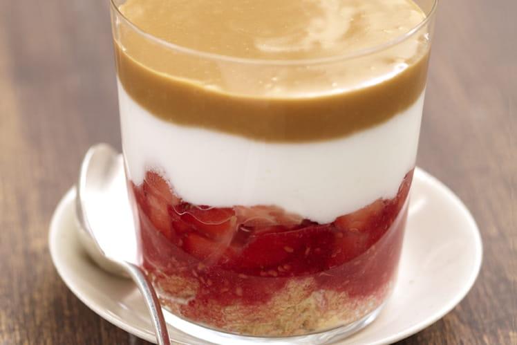 Verrines fruits rouges café et fromage blanc