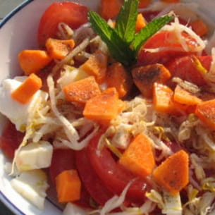 salade colorée croquante