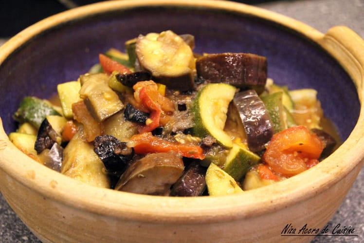 Ratatouille aux olives noires