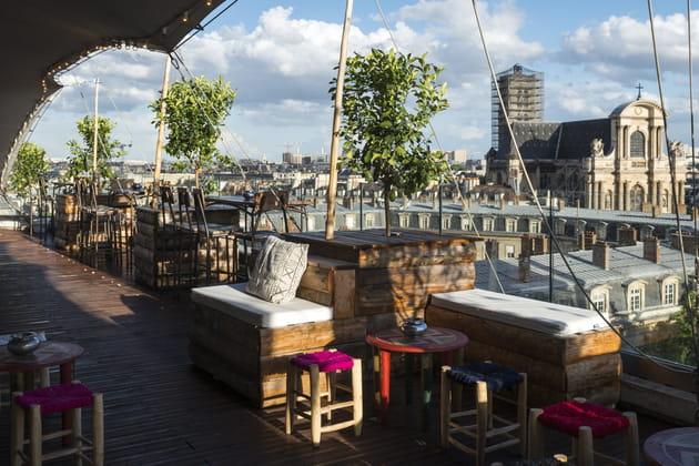 Le rooftop du Perchoir Marais à Paris