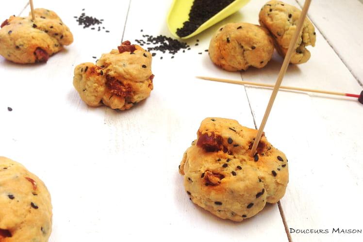 Cookies au sésame noir et chorizo