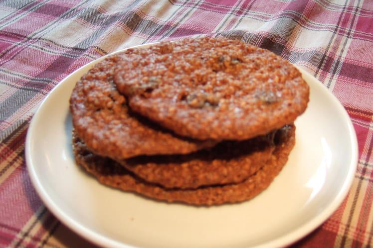 Cookies au sésame et au raisin