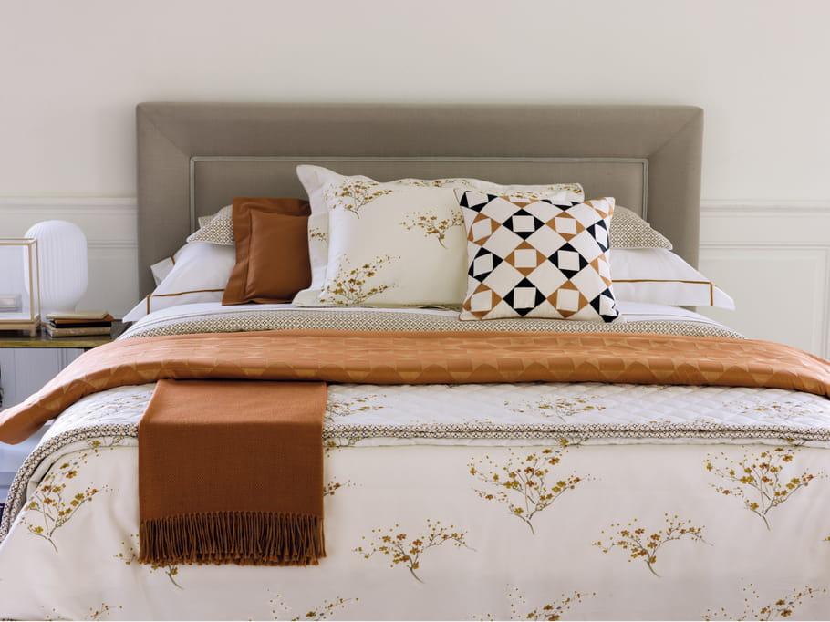 couvre lit matelass toka do par yves delorme boutis et couvre lits r chauffent l ambiance cet. Black Bedroom Furniture Sets. Home Design Ideas