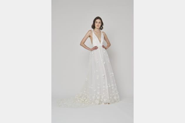Robe de mariée fleurie, Alexandra Grecco