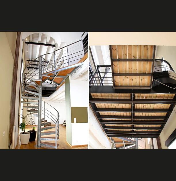 Structure des escaliers