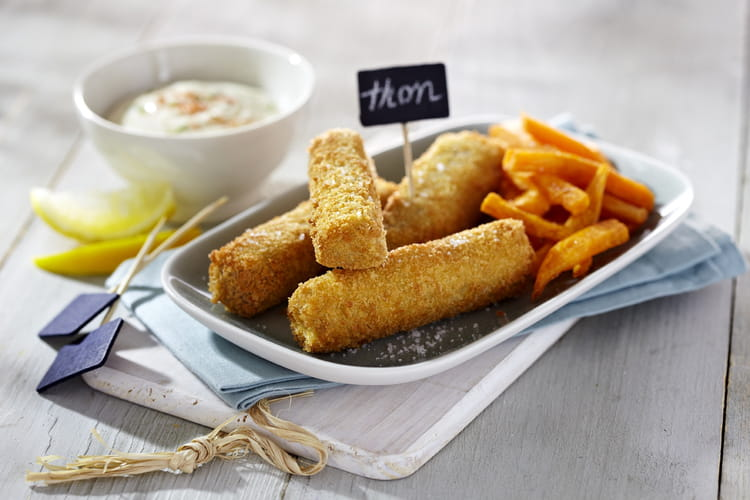 Fish and chips de patates douces