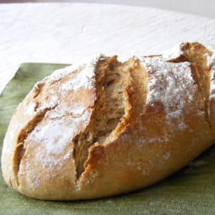 pain bis au seigle et au levain fermentescible