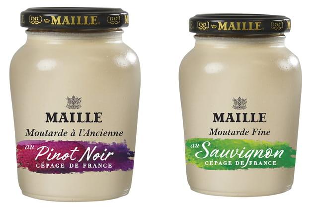 Les nouvelles moutardes fine et à l'ancienne de Maille