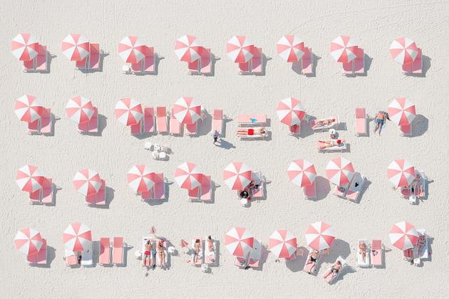 "Jorge de la Torriente ""Pink Umbrellas"""