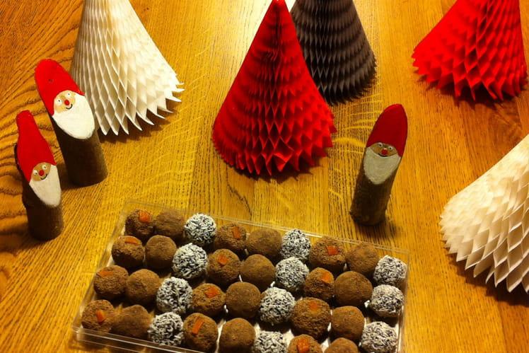 Trio de truffes au chocolat de Noël
