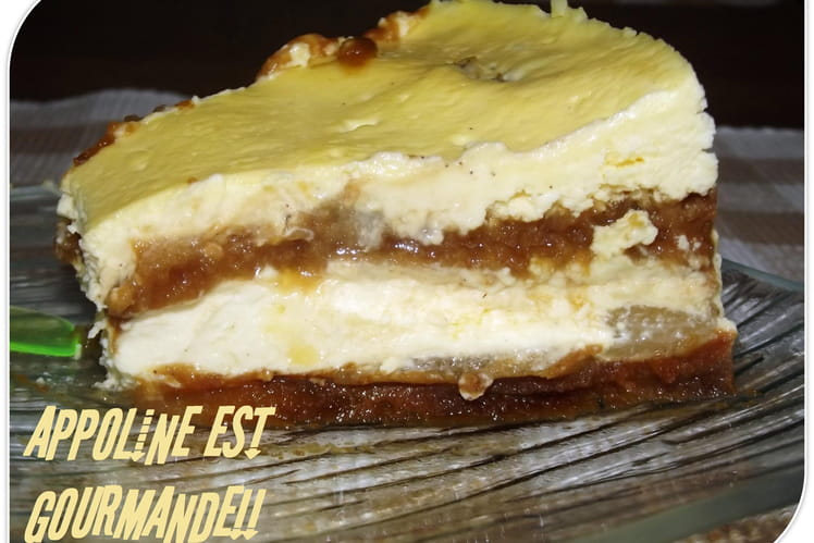 Cheesecake pain d'épices-poires