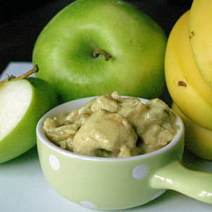 curry de cuisses de grenouillesà la pomme età la banane
