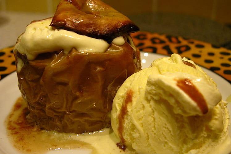Pomme Carambar et boule vanille
