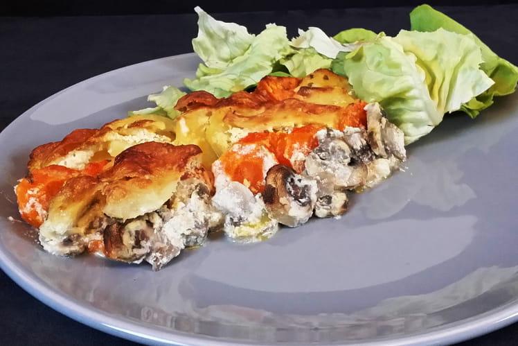 Recette De Gratin Patate Douce Pomme De Terre Carotte Mozzarella