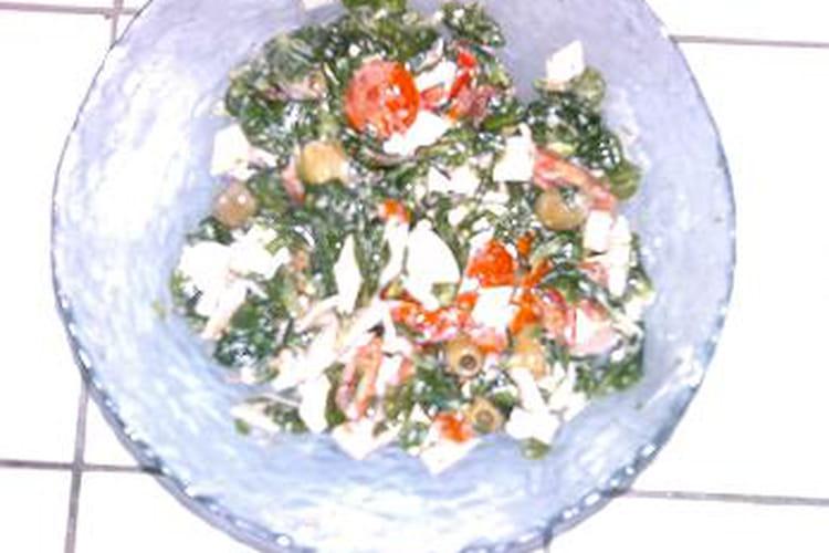 Salade aux blancs de poulet et tomates cerise