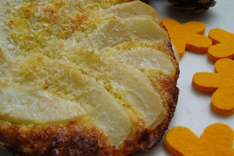 Croustade à la poire et noix de coco