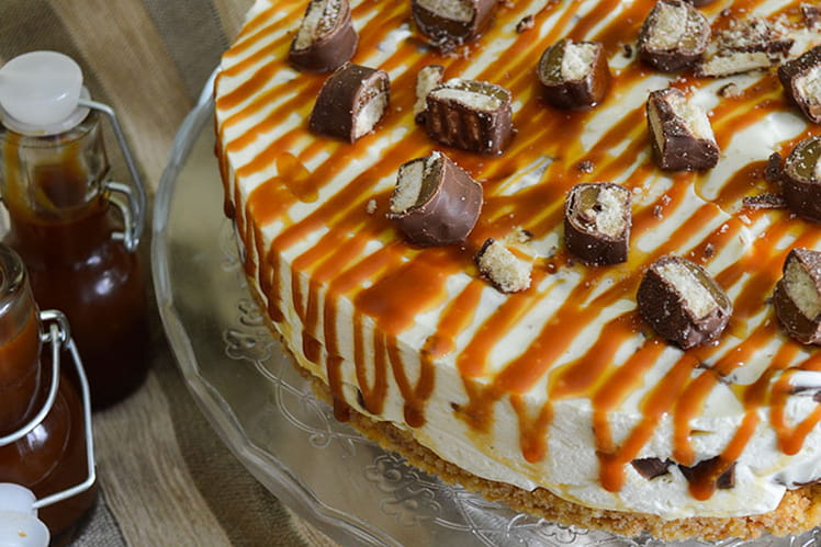 Cheesecake sans cuisson au Twix