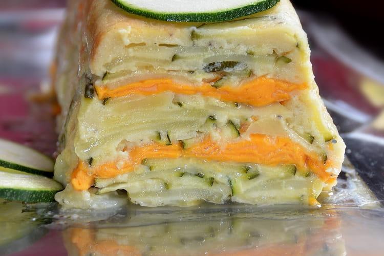 Gâteau invisible courgette, pommes de terre, mimolette