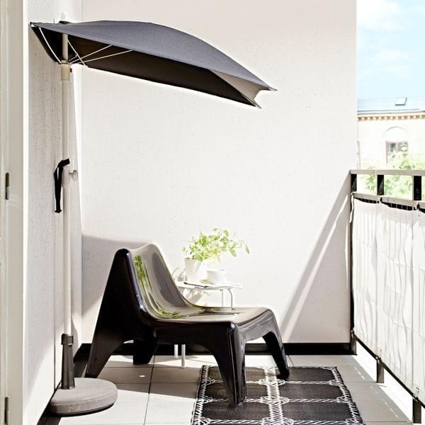 L 39 alli des petits espaces for Portent un parasol dans les jardins