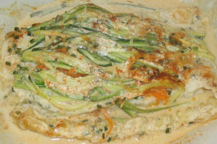 Papillotes de poisson aux ravioles et légumes