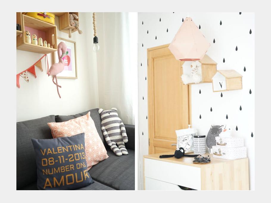 cocon d 39 amour un appart 39 qui mixe d co vintage et style scandinave journal des femmes. Black Bedroom Furniture Sets. Home Design Ideas