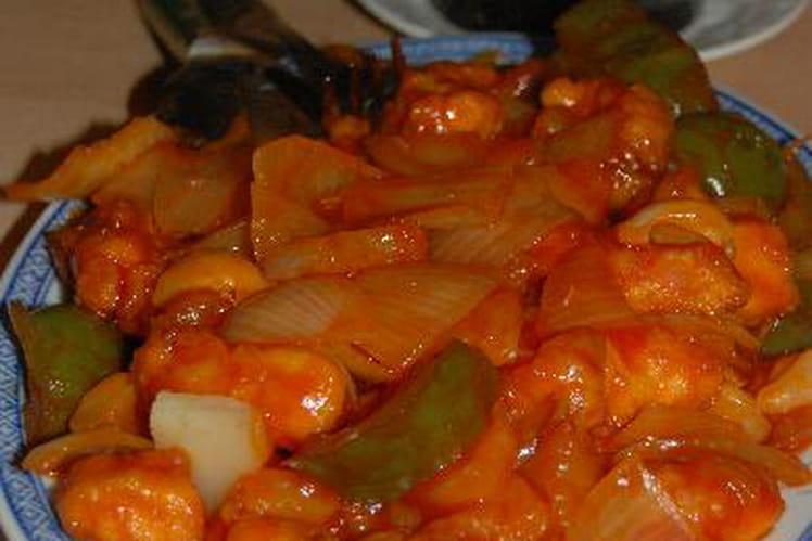 Poulet aigre-douce à la tradition chinoise