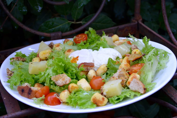 Salade lyonnaise végétarienne