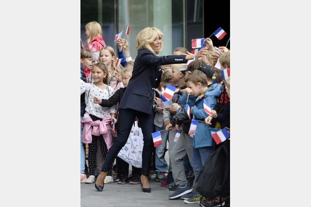 Brigitte Macron le 30août 2018