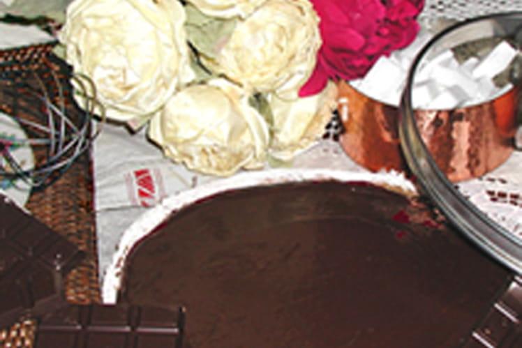 Tarte au chocolat et miel