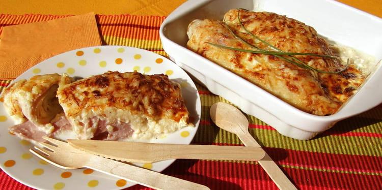 Recette endives au jambon au four halog ne la recette facile - Cuisiner endives au jambon ...