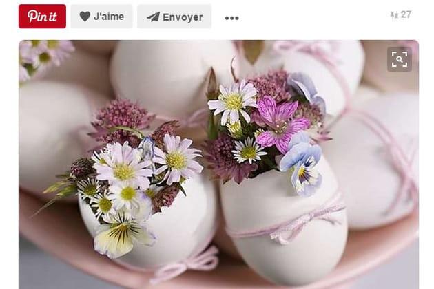 Des oeufs fleuris