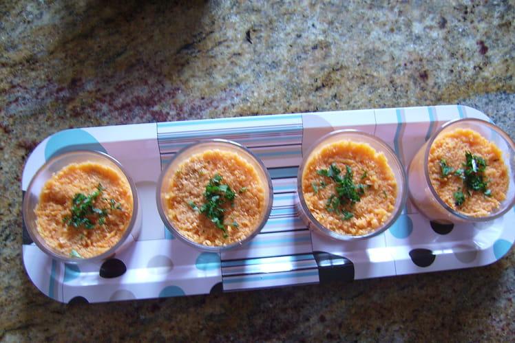 Verrines aux carottes