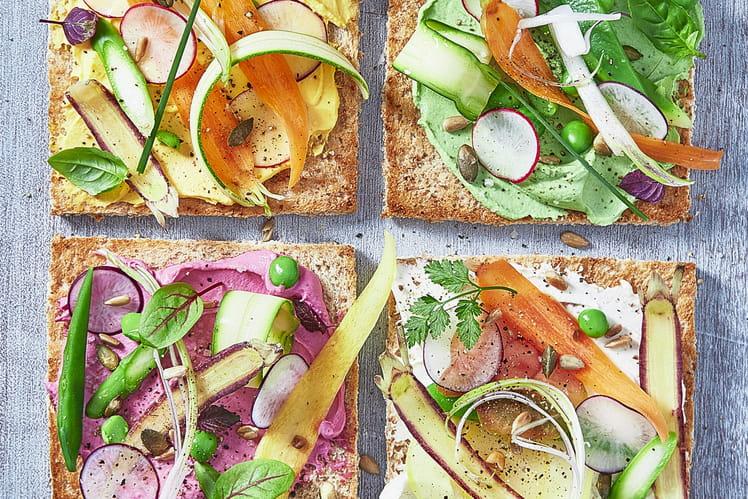 Toasts au Carré Frais et légumes d'été