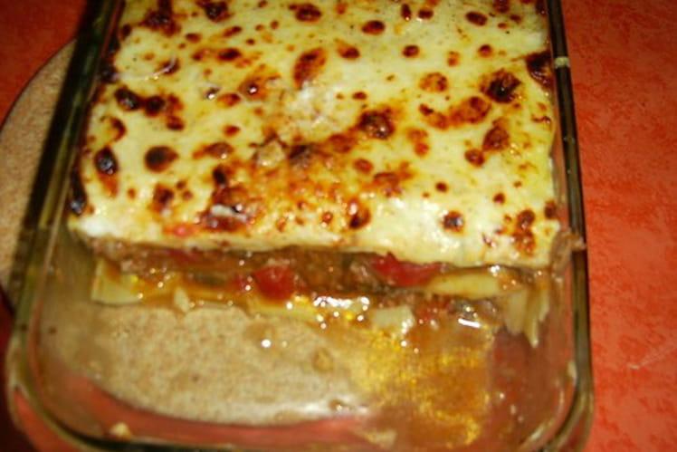 Lasagnes petits pois-jambon