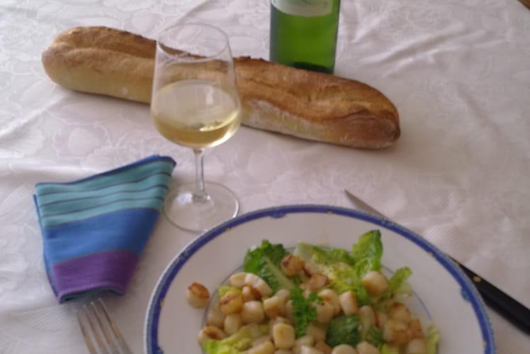 Pétoncles en salade