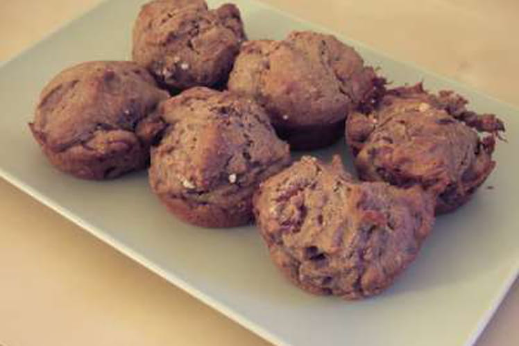 Muffins à la farine de châtaigne et au jambon cru