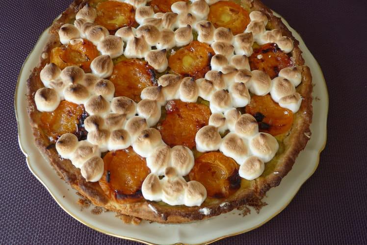 Tarte à la rhubarbe et aux abricots
