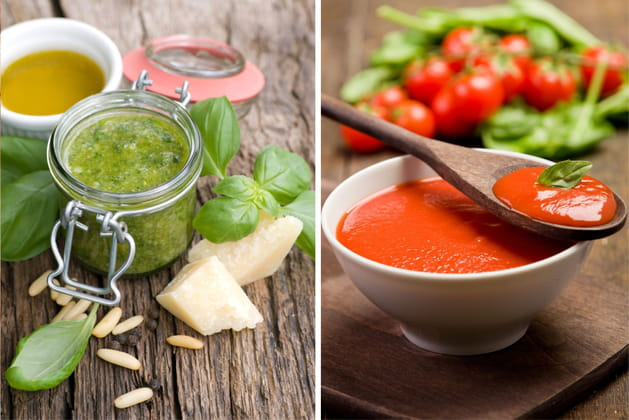 Sauce pesto ou sauce tomate?