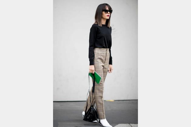 Le pantalon à carreaux