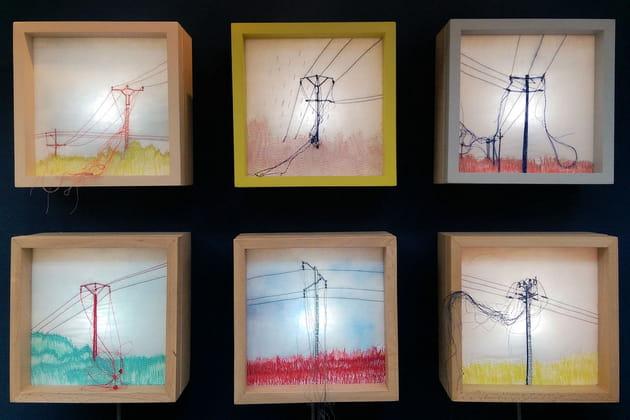 Boîtes lumineuses d'Anne Fontaimpe